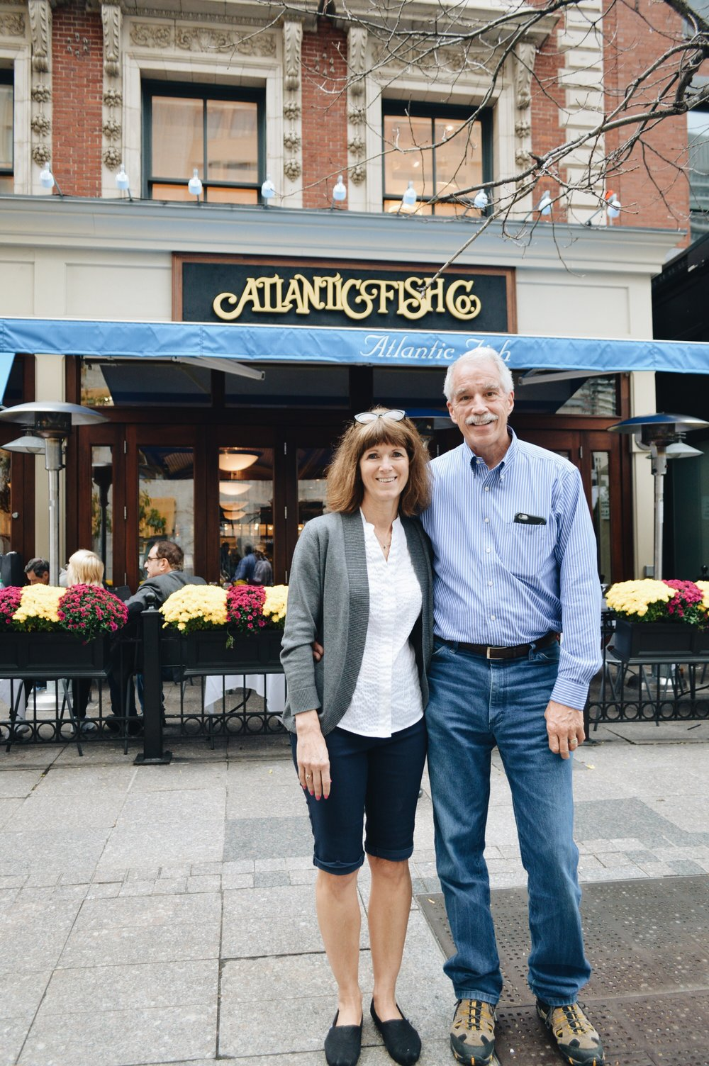 Also, they went to Boston a few years before this trip & this is the restaurant they ate at for their anniversary!
