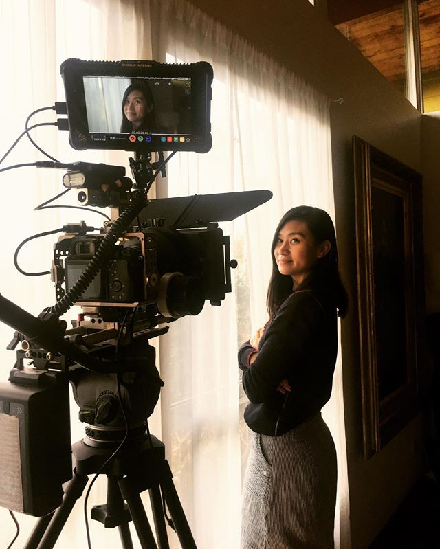 When the director stands in for her talent. You gotta do what you gotta do. Is this work? 👽🎬
