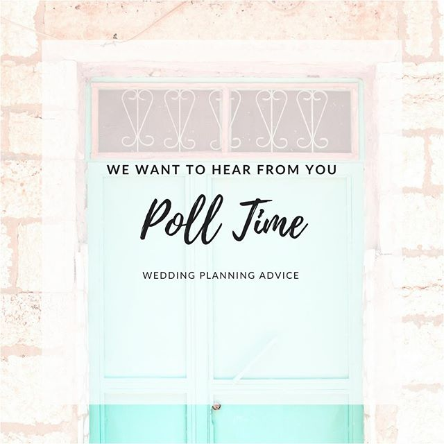 Hey there bride babes!! I have a quick question for you. 🤔  I'm planning on creating some FREE resources for you lovely ladies and would love some feedback! What do you guys really want...like really, really want some help with.  I see a lot of brides out there that feel like they are forgetting something and totally freaking out a month or two before the wedding. Would a last minute checklist be useful? How to Pinterest Your Dream Wedding like a Pro? Or may you need something else completely?  Let me know your thoughts in the comments below 👇👇👇 #weddingtips #weddingadvice #onlineweddingplanner #weddingaddict #diybride #pinterestwedding #weddinggoals #helpmehelpyou #bridestobe #bride2018 #weddingplanningtips #floridaweddingplanner #imengaged #weddinghelp #engagedaf #bride2019 #weddingplanner #bridetobe #futuremrs #misstomrs #weddingvibes #igwedding #instawedding #bohowedding #luxurywedding #polltime #weddingplanningtime
