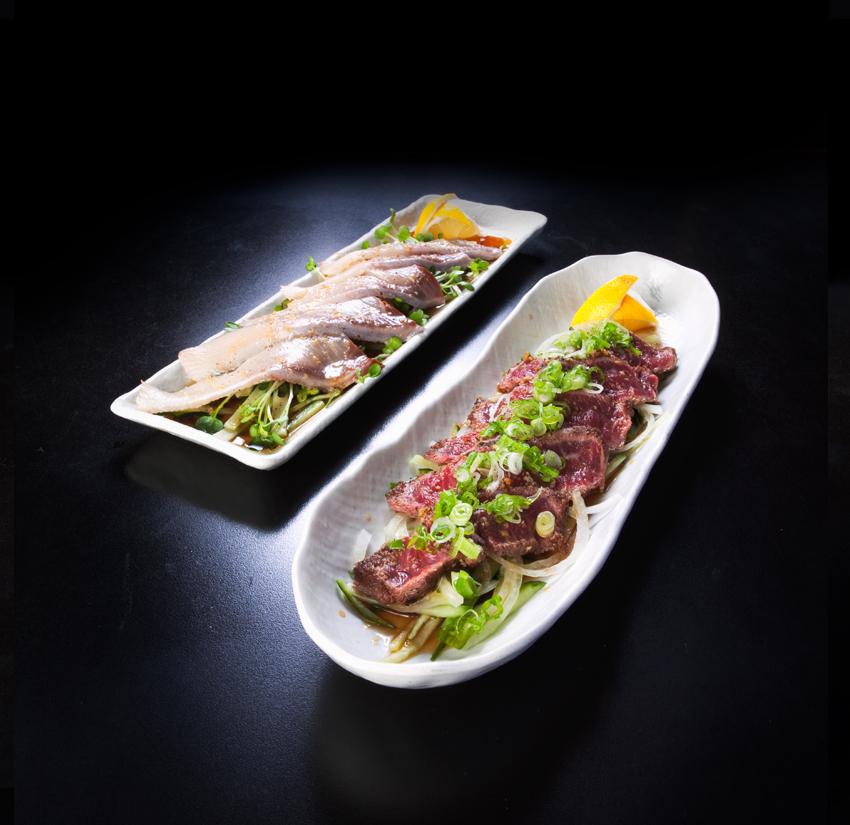 Hamachi & Beef Carpaccio