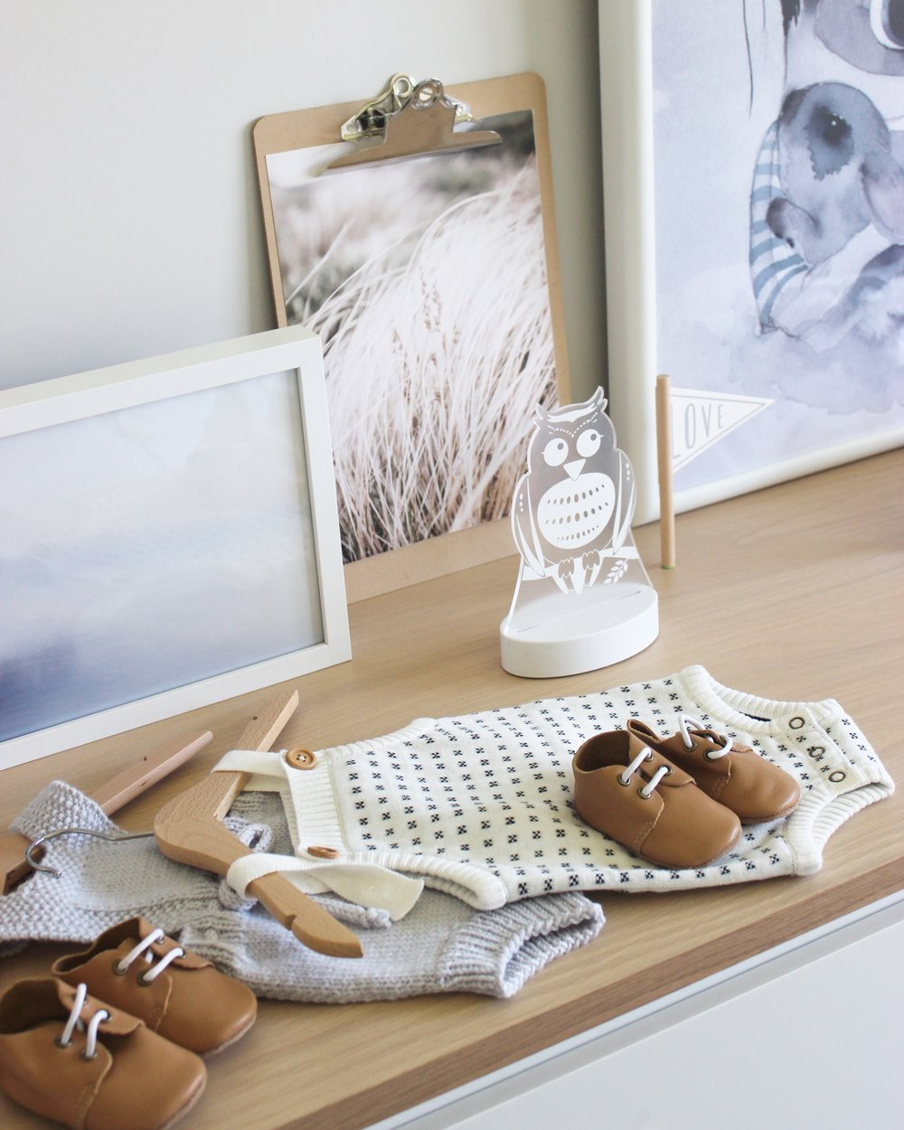 Gender neutral scandinavian style nursery