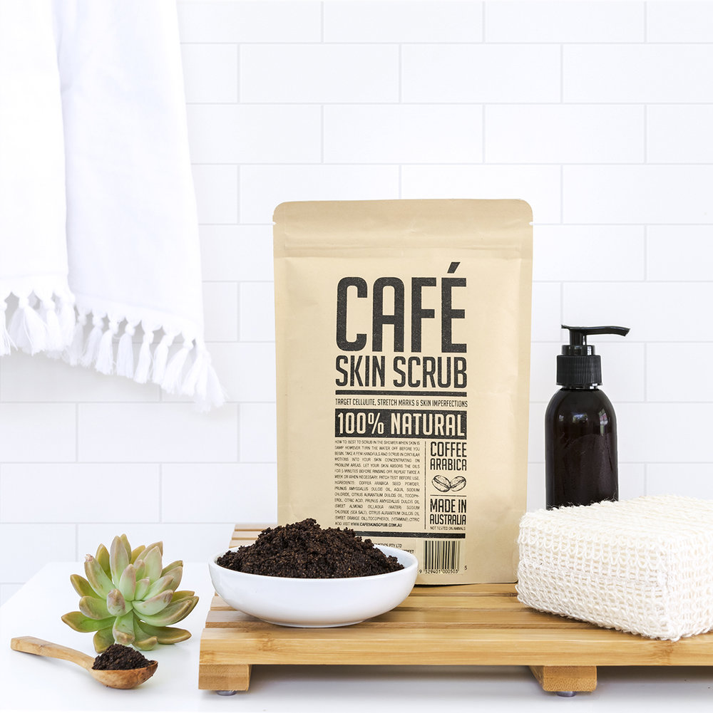skin scrub bathroom lifestyle product styling