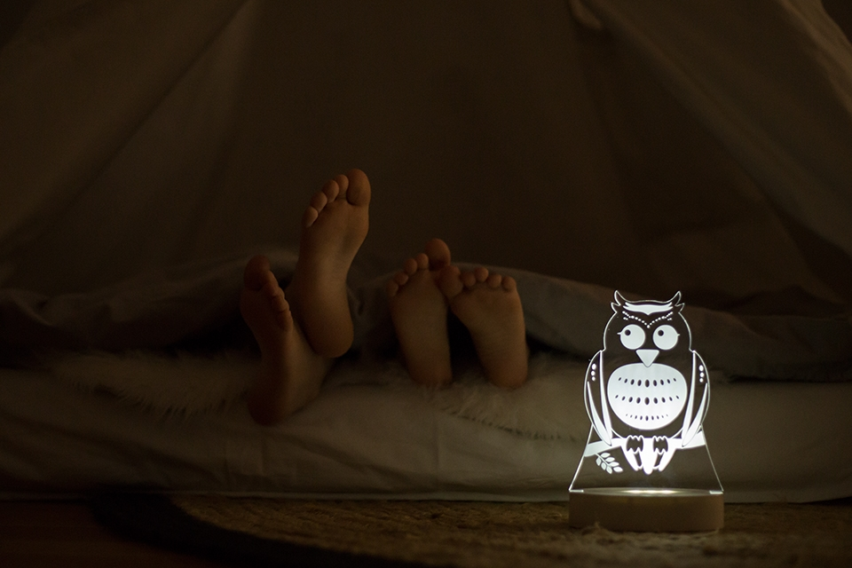 Kids bedroom night light product photography