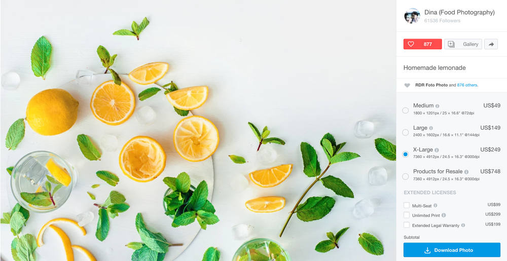 food flatlay lemonade stock photo
