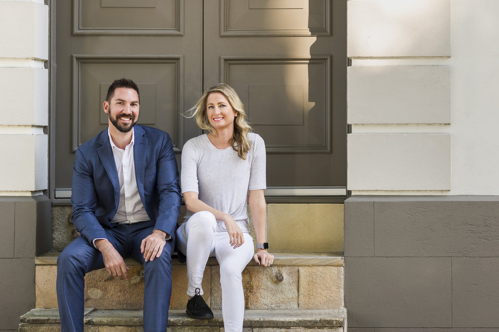 Ruth and Scott, Creatively Squared founders