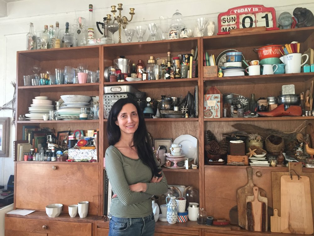 Robin, pictured here with her impressive prop collection