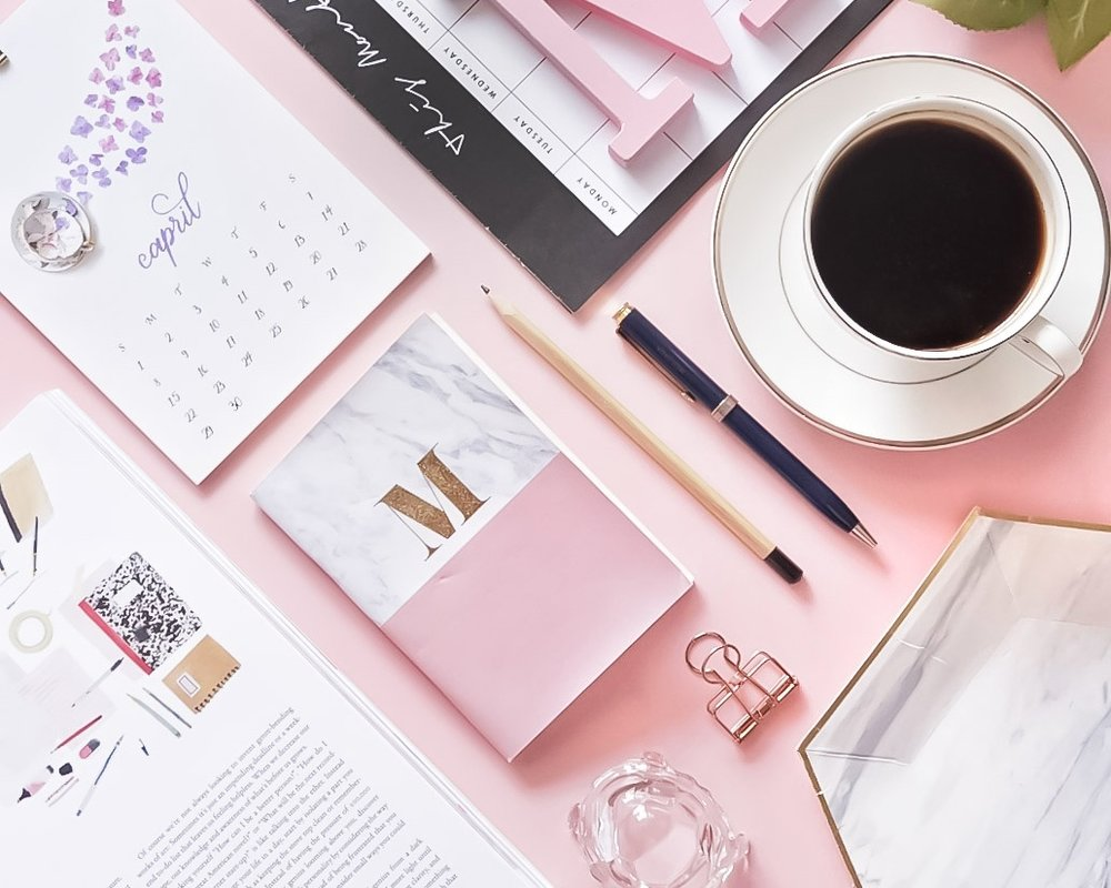 I love playing around with stationery. I think it makes a great flatlay prop! And I love using pink backdrop (as you can see on my Instagram feeds). I love how lovely and pink the image is!