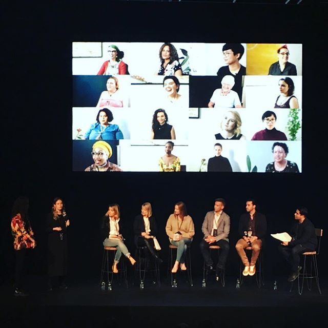 Proud to see the amazing women behind @herwordsseries pitching to a group of top executives and the #videojunkee2017 Pitch, Please! Panel . . #webseries #feminism #feminist #herwords #diversity