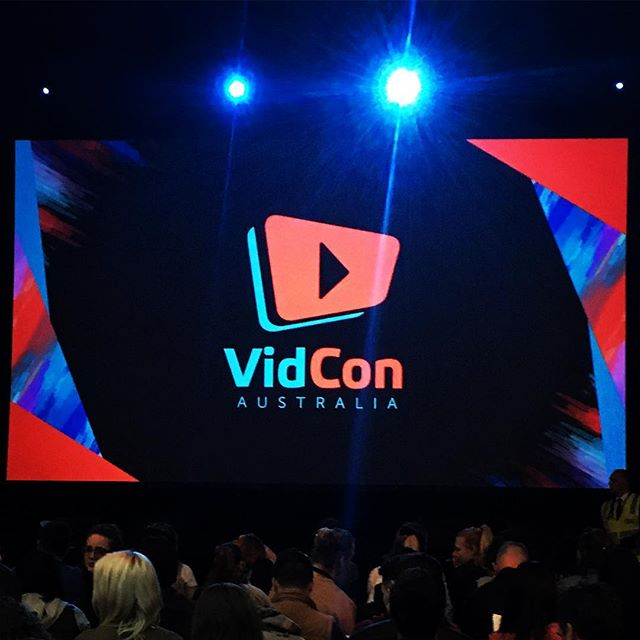 Day 1 down and heading into the party portion of #vidconaus 🎉 #YouTube #onlinevideo #vidcon