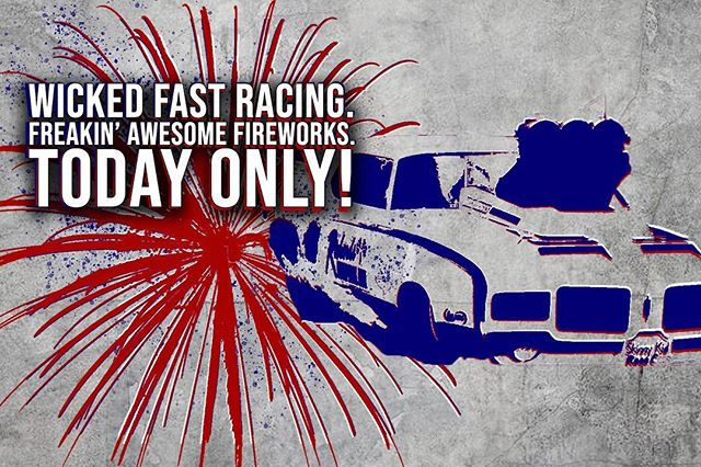 TODAY ONLY! The Big Show is HERE! 200+MPH Cars, Huge Fireworks Show, and Fun Times! #milandragway