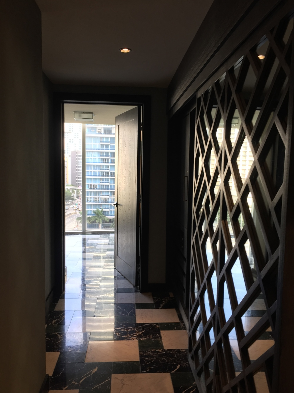 Viceroy Miami Corner Suite Entry