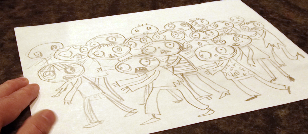In the class, you'll learn to make your very own hungry zombie horde.