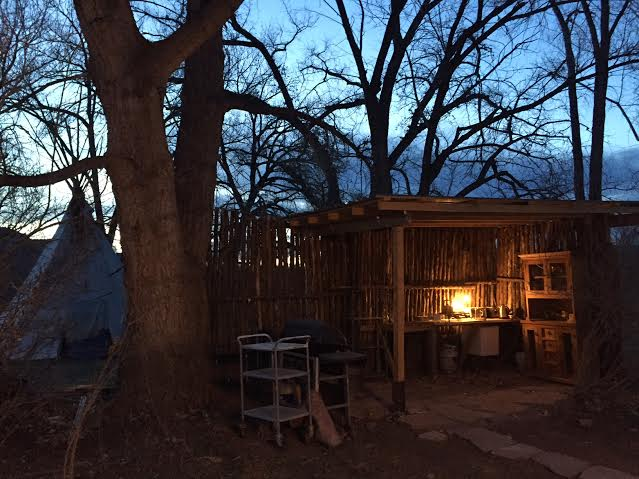 goodnight tipi. goodnight outdoor kitchen...
