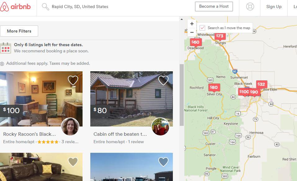 airbnb rapid city