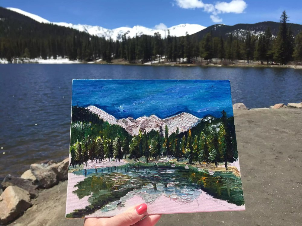 echo lake painting