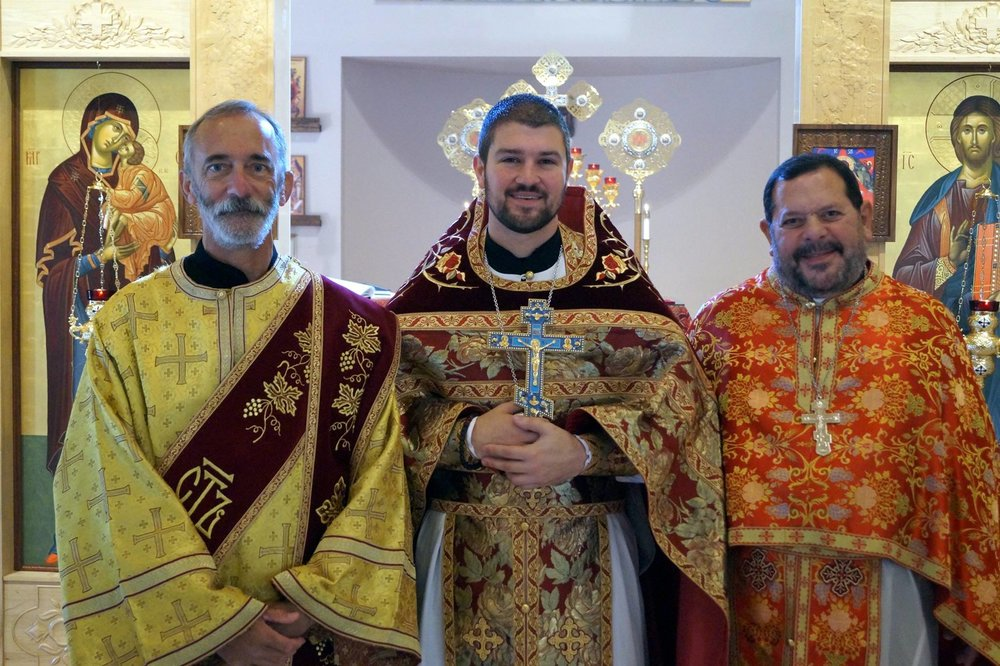 From Left to Right: Dn. John Manutes, Fr. Gabriel Bilas, Fr. Joseph Abud