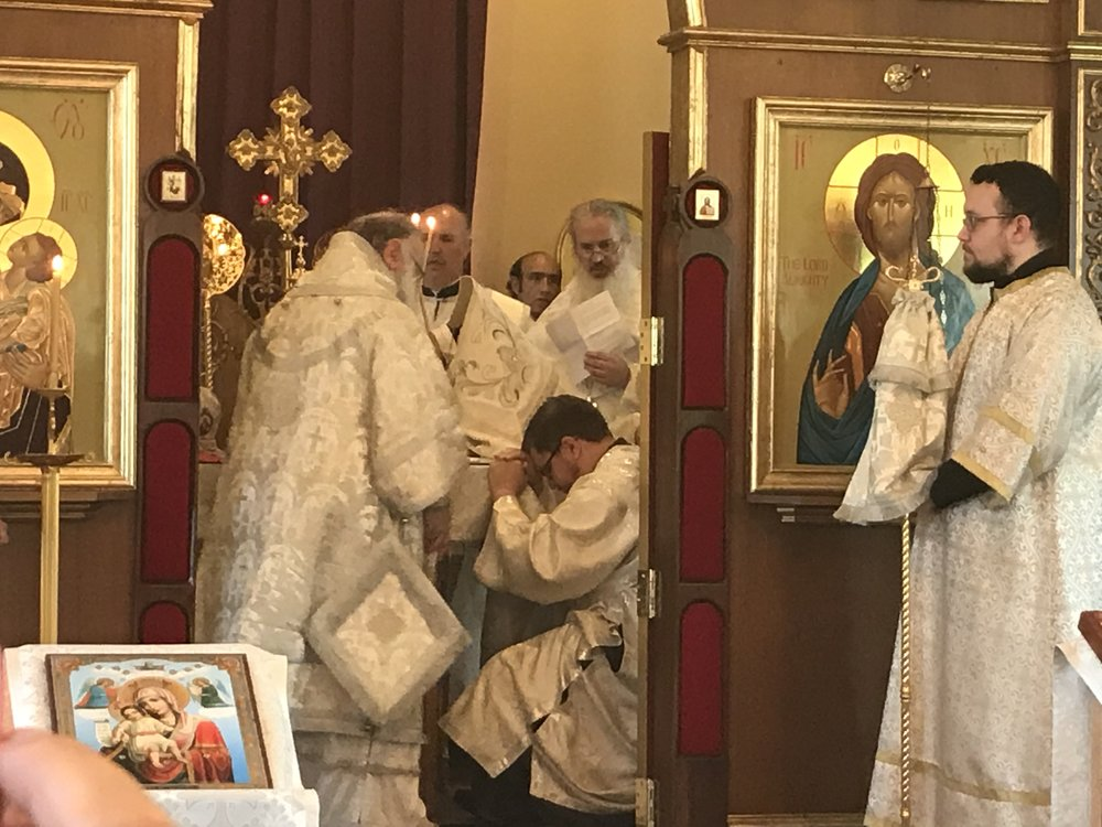 Dcn. David received the laying on of hands by His Eminence Archbishop Peter of the Diocese of Chicago and Mid-America, Russian Orthodox Church Outside of Russia.