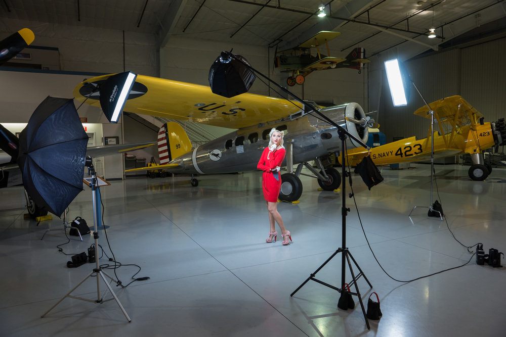 In the setting of the Arizona CAF Air Museum, Shelby Pippin poses for a Classic Portrait