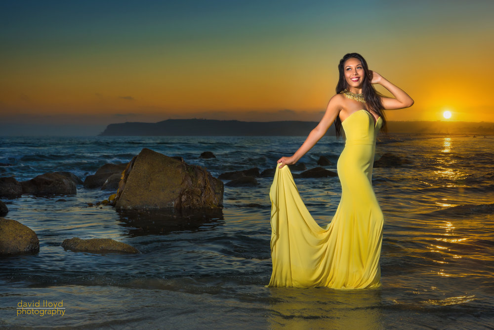 Our Beautiful Model for Coronado Beach, Jena Masero