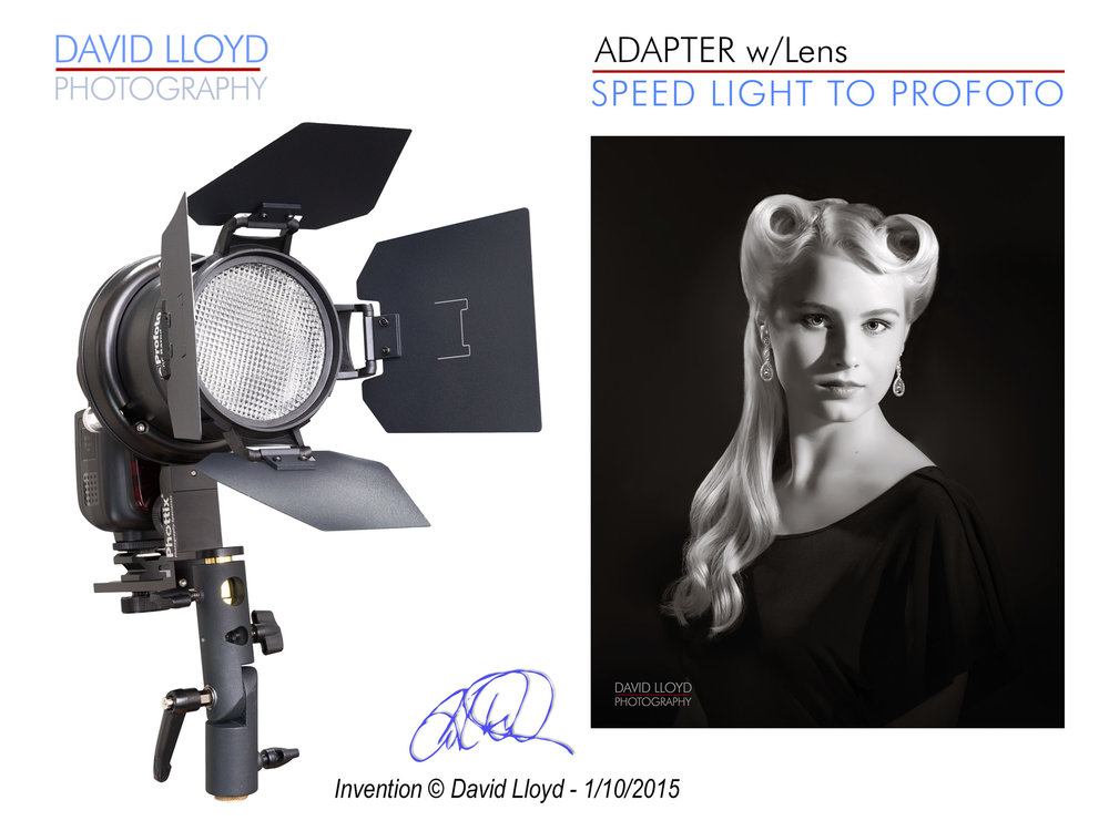 The above photo shows the initial prototype used to photograph a film noir portrait