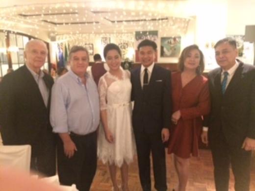ITALIAN AMBASSADOR WITH MR. EMILIO MINA AT THE WEDDING CELEBRATION AT CARUSO