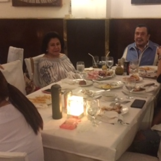 """FORMER PRES. AND INCUMBENT EJERCITO """"ERAP"""" ESTRADA WITH HIS WIFE"""