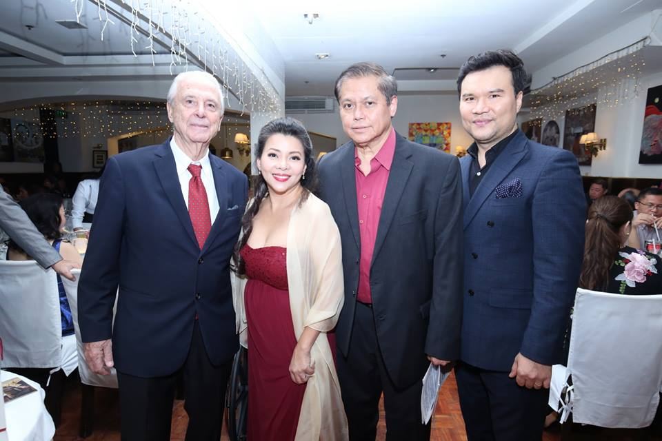 Caruso's Emilio Mina with Rachelle Gerodias, Raul Sunico, and Byeong-In Park