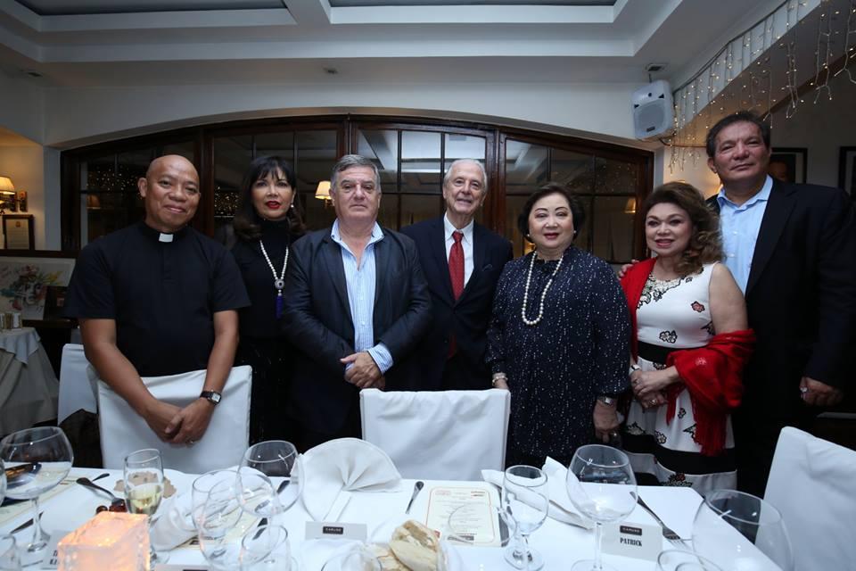 Caruso's Emilio Mina with Rustan's Nedy Tantoco, Actress Jean Saburit and columnist Becky Garcia