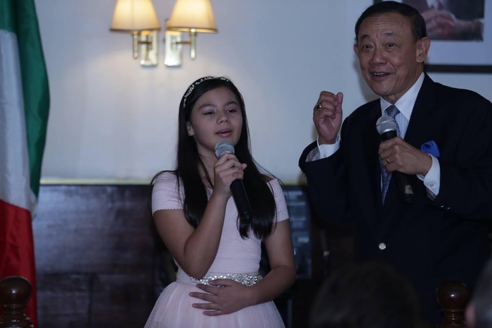 Mr. Jose Mari Chan singing with Natalia Escano