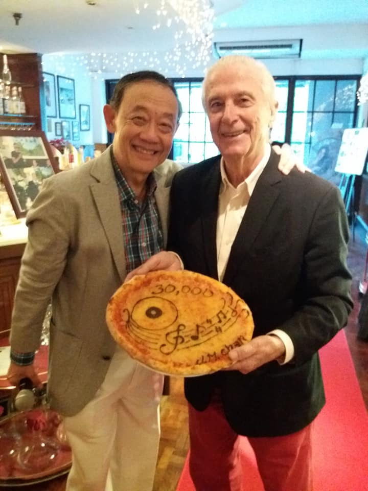Mr. Jose Mari Chan with Caruso's Emilio Mina