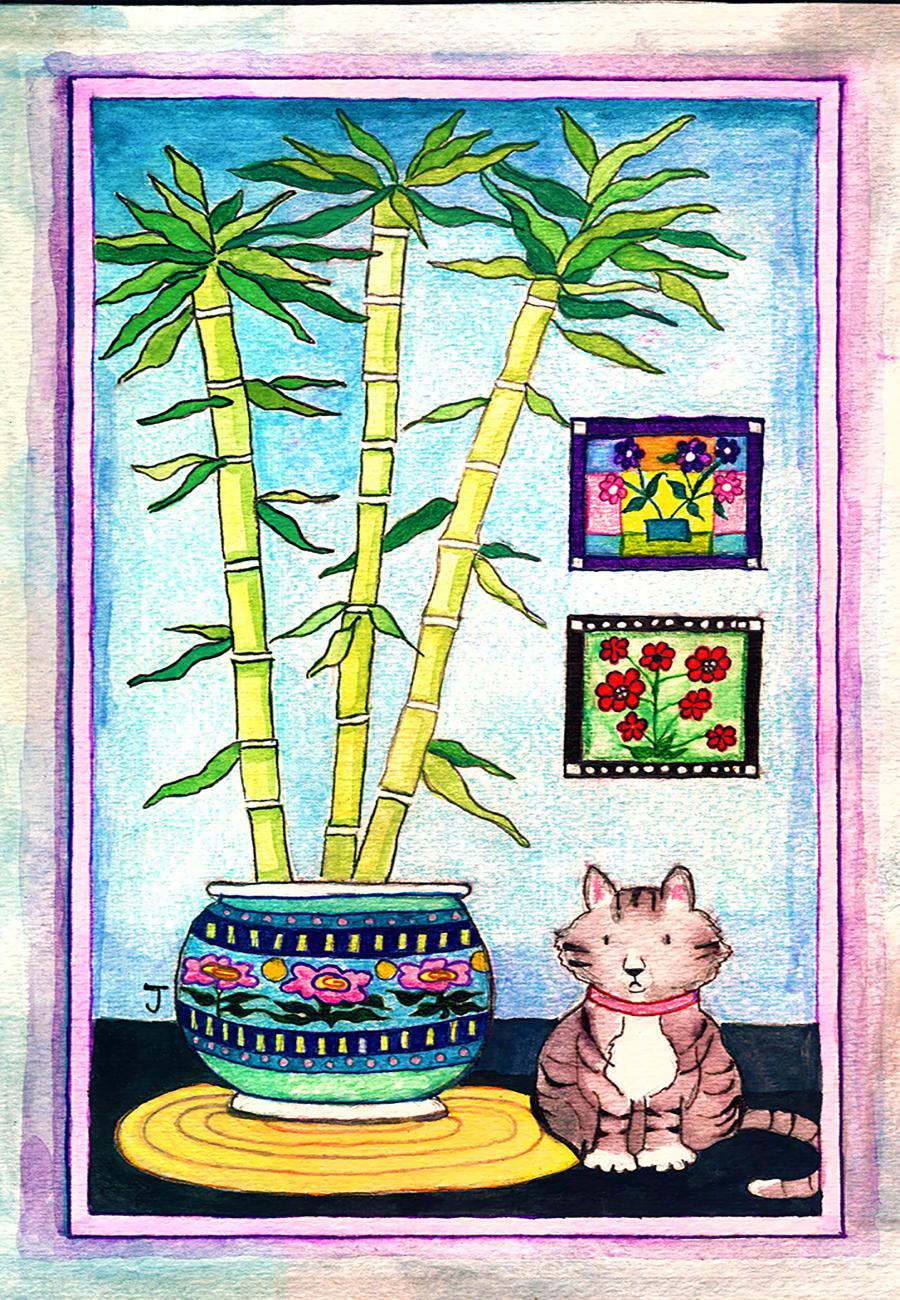 Cat + Bamboo