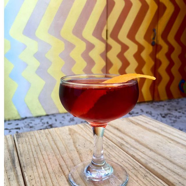 "#HappyHumpday Its probably due time for that after work adult beverage. Come try our ""Broken Negroni"" it's a sparkling twist on a classic with sparkling wine, vermouth, @donciccioefigli Cinque, and orange essence. . . . . #Negroni #MagicHour #HappyHour #Cheers #Wine #DrinkUp #BackYard #Garden #DrinkSpecials #CraftCocktails #CocktailBar #BartenderLife #Humpday #YesWilliamsburg #DrinkBk #Brooklyn #BedStuy #EatatEvaJeans"