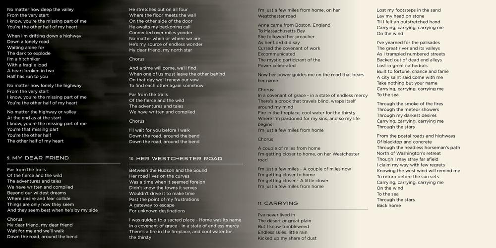 Lyric on the road again lyrics : Michael Foreman Music