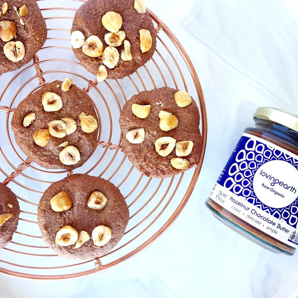 Choc Hazelnut Biscuits