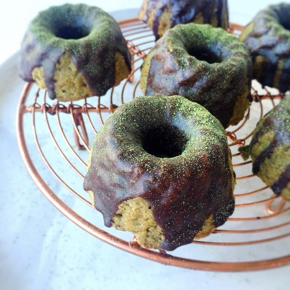 Matcha Bundt Cakes