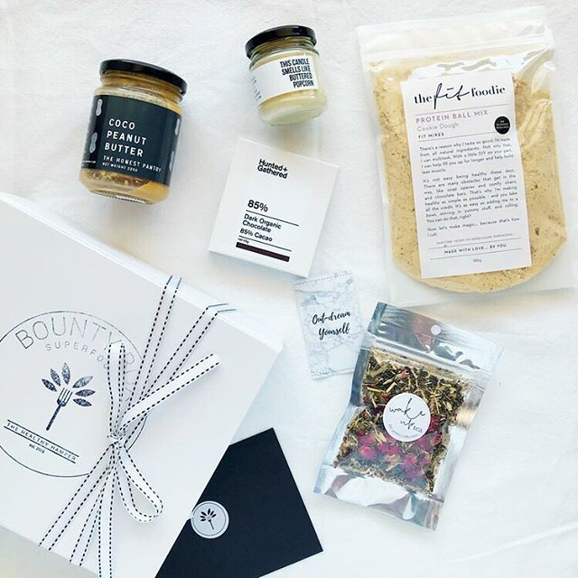 A blissful box of healthy goodies! Treat someone special to a our Bliss Bounty Box, containing locally made tea, nut butter, candle, Australian made artisanal chocolate and protein ball mix!