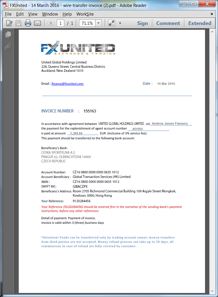 First funding my account — FX United Explained