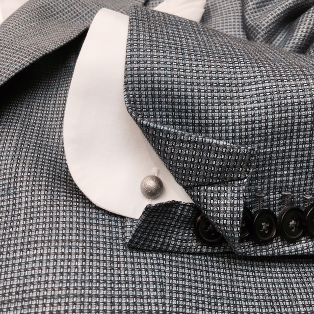 Bespoke Jacketing in Silk Linen Wool. From HK$16,800.    Reversible Matt Crystal Cufflinks.     Click to Purchase Now at Lane Crawford Online      Hong Kong