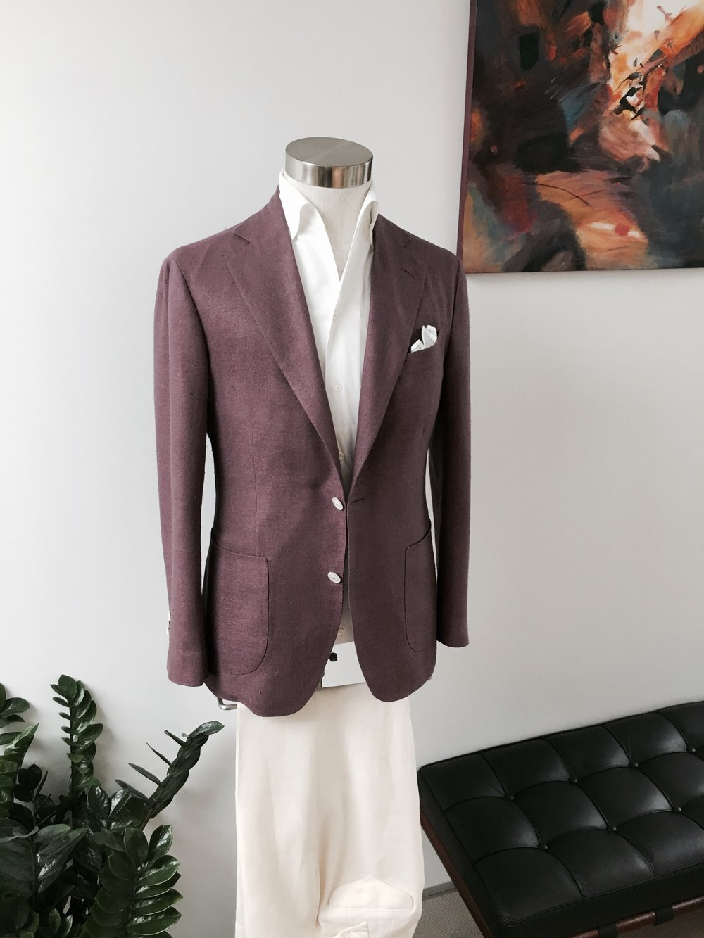 Memorable Soft Jackets in Raw Hopsack Silk. HK$15,000.    Leisure Shirt in Swiss Cotton. From HK$3,500.