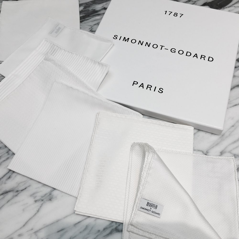 Magnus & Novus x Simonnot Godard - Hand Made Pocket Square Hong Kong