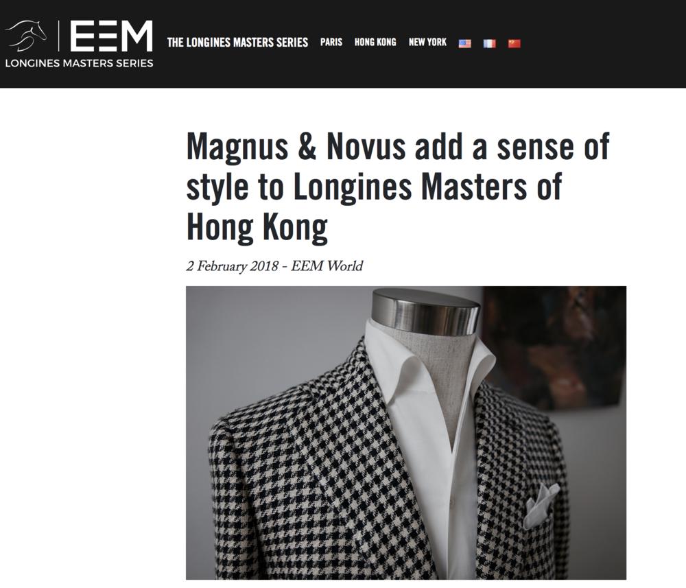 Magnus & Novus x Longines Masters 2018 - Bespoke Lifestyle Hong Kong