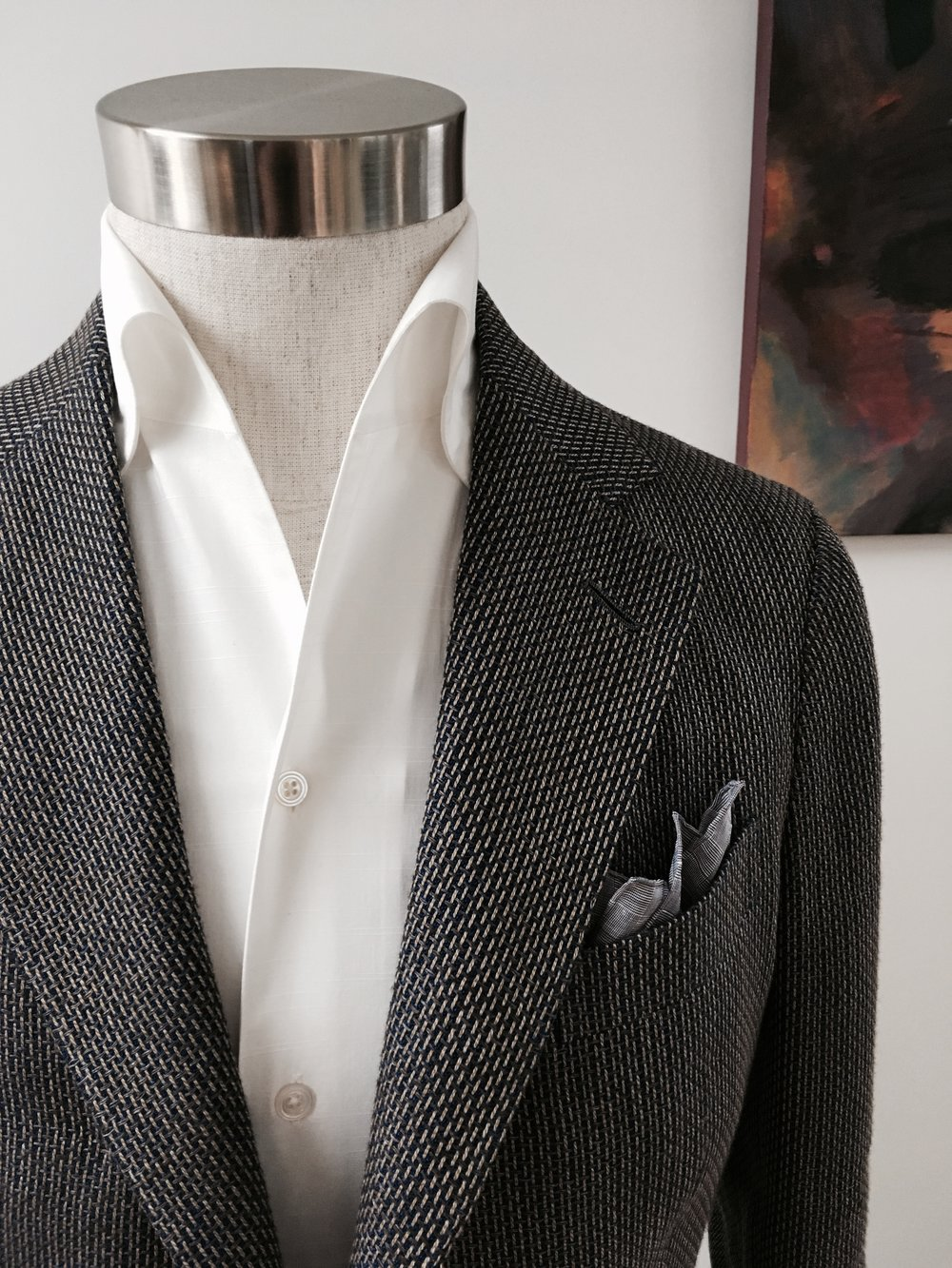 Leisure Soft Jacket in Two Tone Weave. From HK$13,800.
