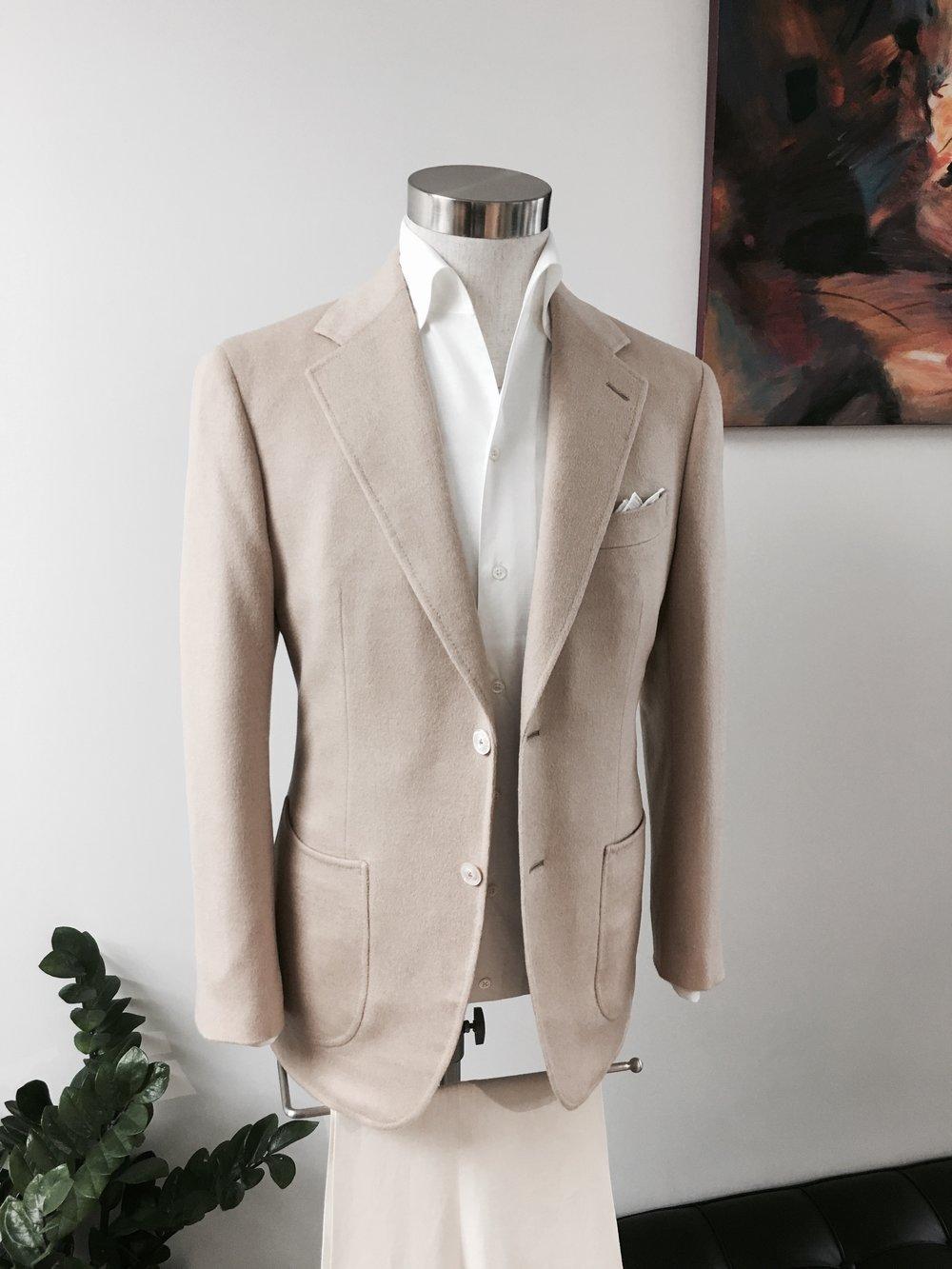 Seasonal Leisure Wear in Bactrian Baby Camel Hair. From HK$18,000.    Leisure Shirt in Swiss Cotton. From HK$3,500.
