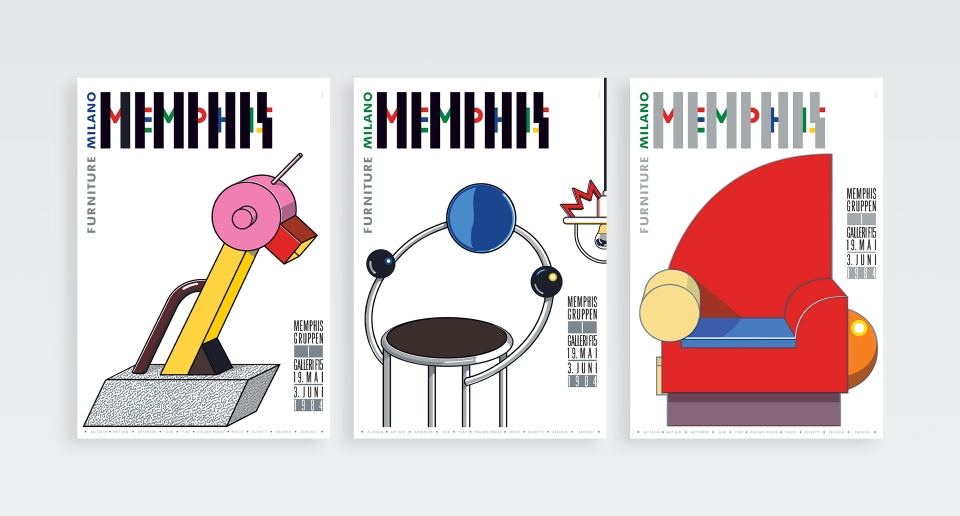 The Memphis Posters A New Type Of Imprint