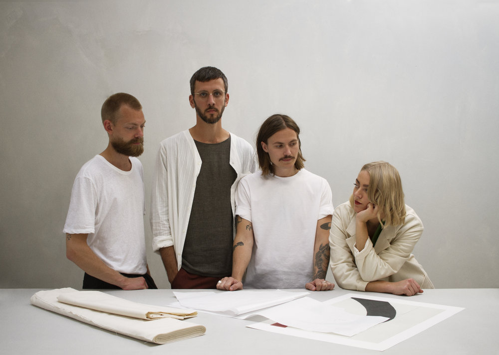 Filip, Sjur, Fredrik and Johanne. Photography by  Joakim Heltne.