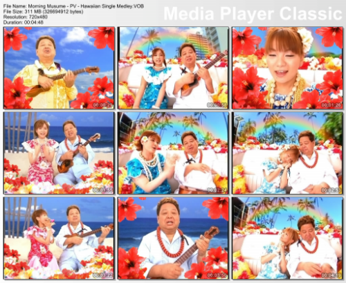 Music video for Morning Musume Single Medley -Hawaiian-