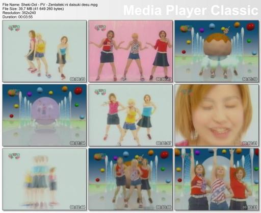 Music video for Zentaiteki ni Daisuki Desu.