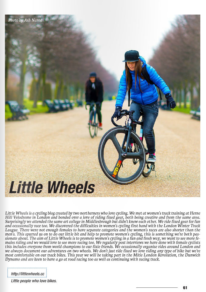 Stoked On Fixed Bikes online magazine, March 2015 -  https://issuu.com/stokedonlinemag/docs/sofb_20/1