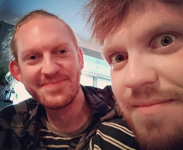 Wishing a very happy birthday to our very own Adam and Leo! #brothersinarms . . . . #brothers #bandmembers #band #birthday #gingers #gingerhair #food #rockandroll
