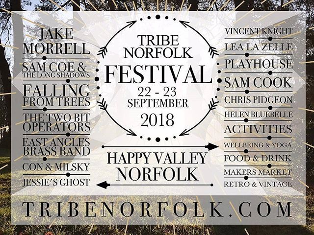 Very excited and beyond honoured to be closing the show THIS Saturday at the inaugural @tribenorfolk festival! We'll be taking to the stage around 21:15 and boy, oh boy, do we have some fun in store for you! Don't miss out :) . . . . #headliner #headlining #festival #festivalseason #endofsummer #gig #show #band #rockandroll #blues #music #indie #independent #unsigned #norfolk @creativeorchard @happyvnorfolk